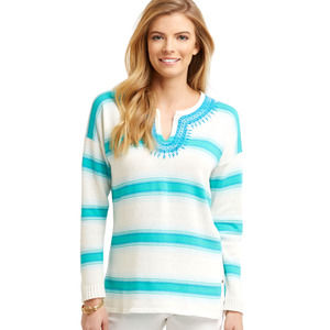 Vineyard Vines Embroidered Striped Sweater XL